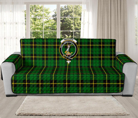 Wallace Hunting Green Tartan Clan Badge Oversized Sofa Protector