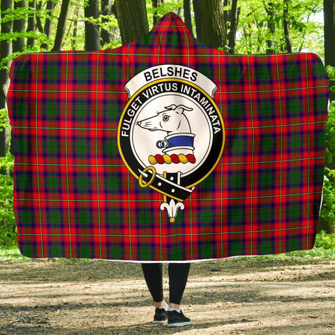 Belshes Clans Tartan Hooded Blanket