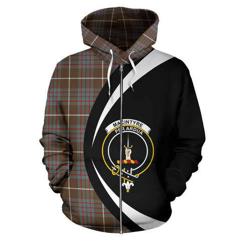 MacIntyre Hunting Weathered Tartan Circle Zip Hoodie