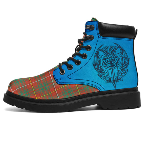 Bruce Ancient Tartan All-Season Boots - Celtic Thistle | scottishclans.co