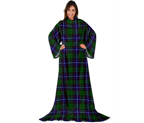 Image of Russell Modern Tartan Clans Sleeve Blanket | scottishclans.co