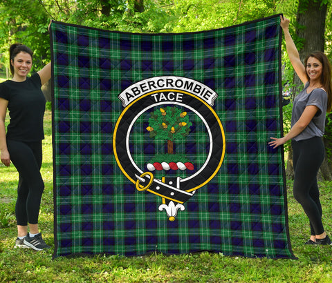 Abercrombie Tartan Clan Badge Premium Quilt | Scottishclans.co