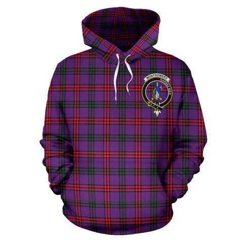 Image of Montgomery Tartan Clan Badge Hoodie HJ4