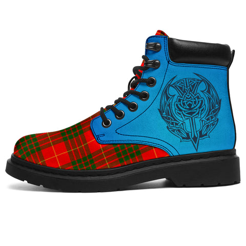 Cameron Modern Tartan All-Season Boots - Celtic Thistle | scottishclans.co