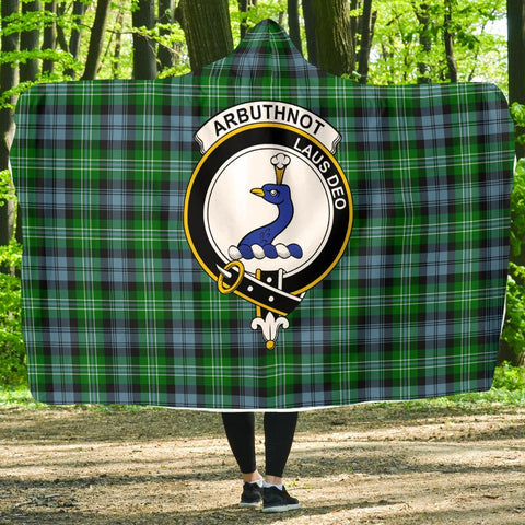 Image of Arbuthnot Clans Tartan Hooded Blanket