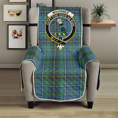 MacInnes Ancient Tartan Clan Badge Sofa Protector K7