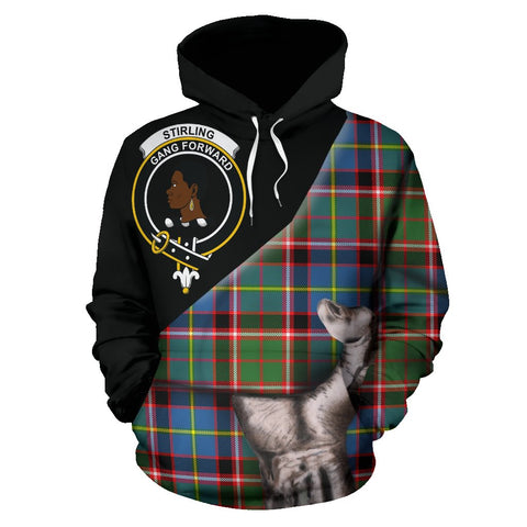 Stirling & Bannockburn District Tartan Clan Crest Hoodie Patronage HJ4