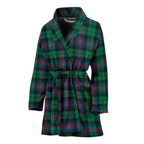 Urquhart Broad Red Ancient Tartan Womens Bathrobe