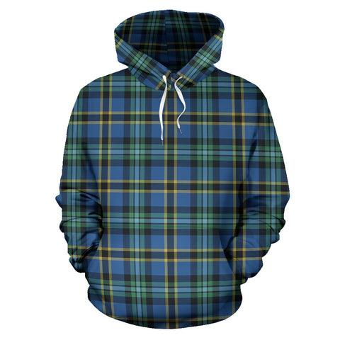 Weir Ancient Tartan Hoodie, Scottish Weir Ancient Plaid Pullover Hoodie