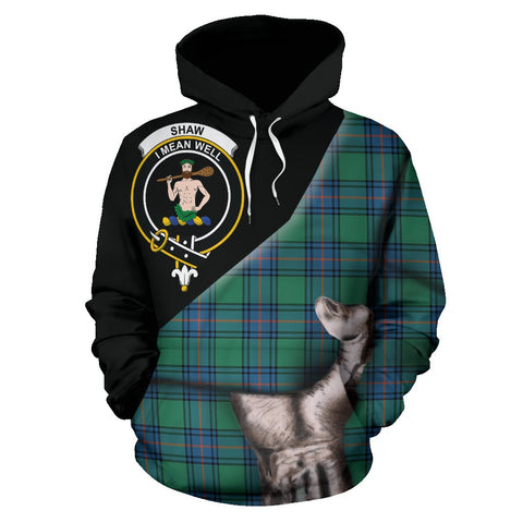 Shaw Ancient Tartan Clan Crest Hoodie Patronage HJ4