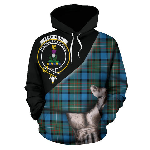 Image of Fergusson Ancient Tartan Clan Crest Hoodie Patronage HJ4