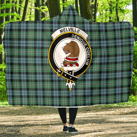 Image of Melville Clans Tartan Hooded Blanket