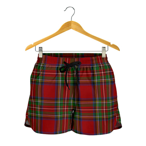 Stewart Royal Tartan Shorts For Women
