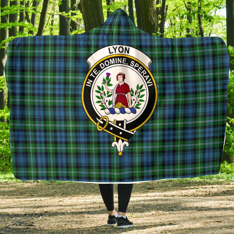 Image of Lyon  Clans Tartan Hooded Blanket