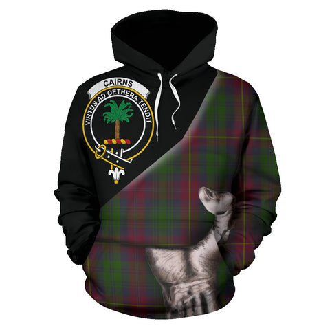 Image of Cairns Tartan Clan Crest Hoodie Patronage HJ4