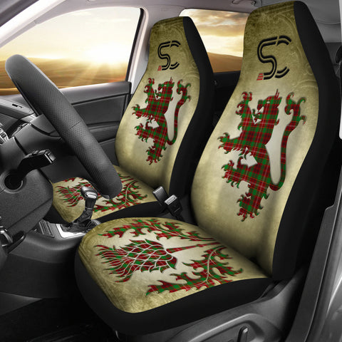 Ainslie Tartan Car Seat Cover Lion and Thistle Special Style