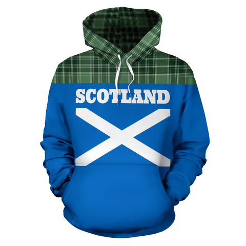 Tartan All Over Hoodie - Lion MacDonald Lord of the Isles Hunting - BN