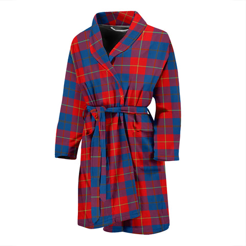 Galloway Red Tartan Mens Bathrobe