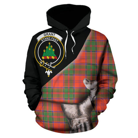 Grant Ancient Tartan Clan Crest Hoodie Patronage HJ4