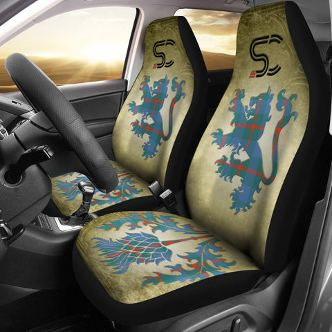 Agnew Ancient Tartan Car Seat Cover Lion and Thistle Special Style
