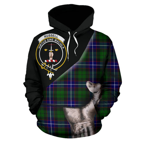 Image of Russell Modern Tartan Clan Crest Hoodie Patronage HJ4