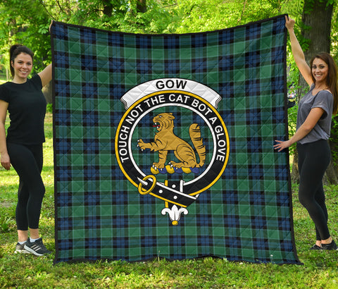 Graham of Menteith Ancient Tartan Clan Badge Premium Quilt | Scottishclans.co