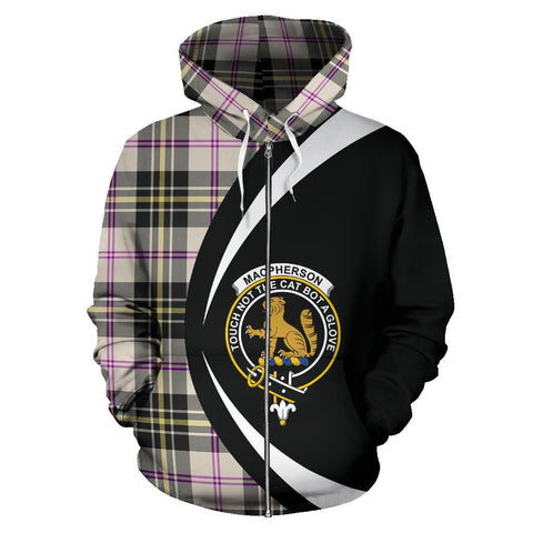 MacPherson Dress Ancient Tartan Circle Zip Hoodie