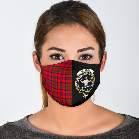 Murray of Tulloch Modern  Tartan Mouth Mask The Half