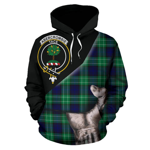 Image of Abercrombie Tartan Clan Crest Hoodie Patronage HJ4