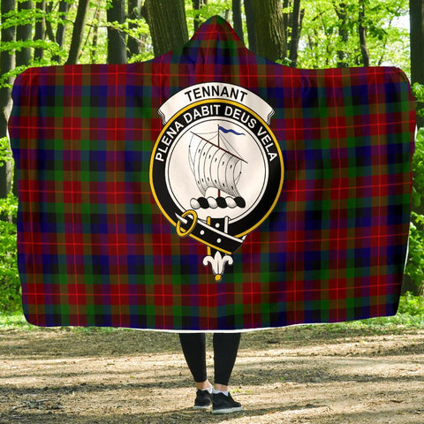Tennant Clans Tartan Hooded Blanket