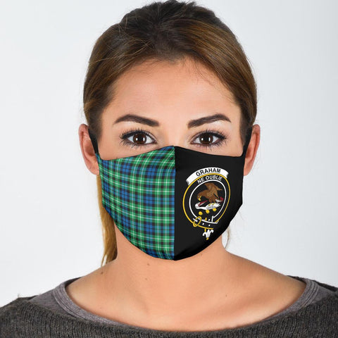 Graham of Montrose Ancient  Tartan Mouth Mask The Half