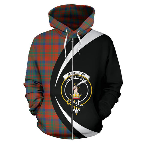 Matheson Ancient Tartan Circle Zip Hoodie