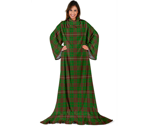 Image of MacKinnon Hunting Modern Tartan Clans Sleeve Blanket | scottishclans.co