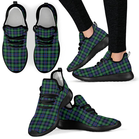 Image of Tartan Mesh Knit Sneakers - Farquharson Ancient