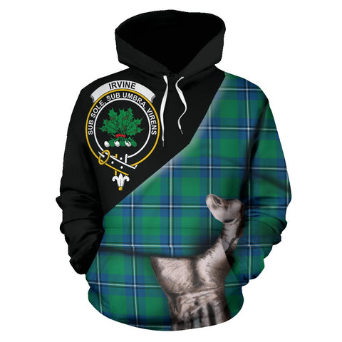 Image of Irvine Ancient Tartan Clan Crest Hoodie Patronage HJ4