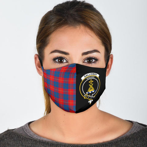 Galloway Red  Tartan Mouth Mask The Half