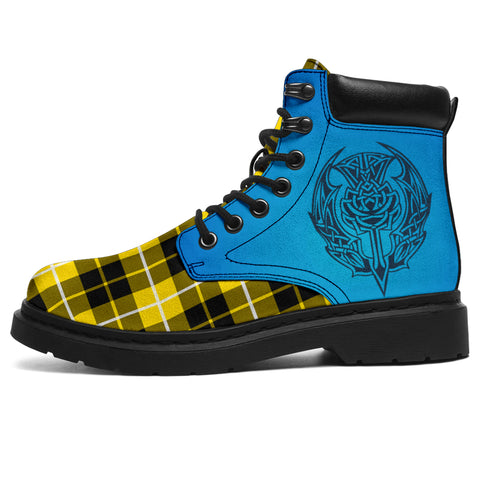 Barclay Dress Modern Tartan All-Season Boots - Celtic Thistle | scottishclans.co