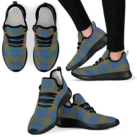 Image of Tartan Mesh Knit Sneakers - Stewart of Appin Hunting Ancient