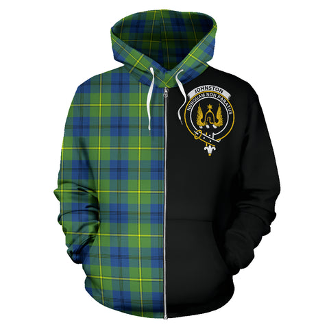 Johnston Ancient Tartan Hoodie Half Of Me