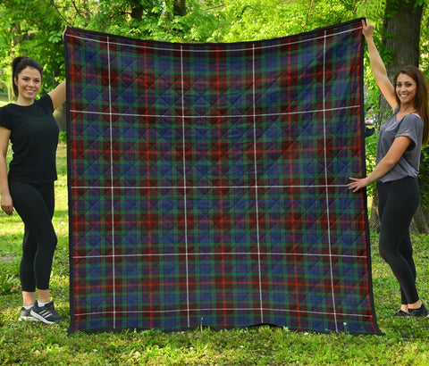 Fraser Hunting Ancient Tartan Premium Quilt | Scottishclans.co
