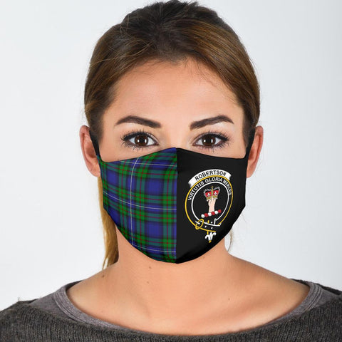 Robertson Hunting Modern  Tartan Mouth Mask The Half