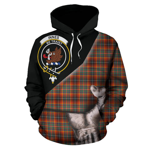 Innes Ancient Tartan Clan Crest Hoodie Patronage HJ4
