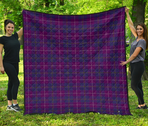 Pride of Glencoe Tartan Premium Quilt | Scottishclans.co