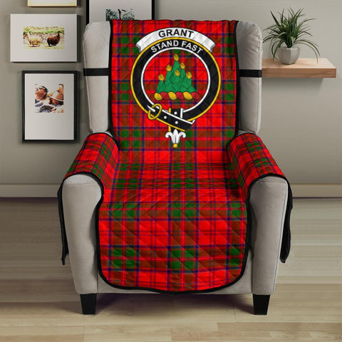 Image of Grant Modern Tartan Clan Badge Sofa Protector