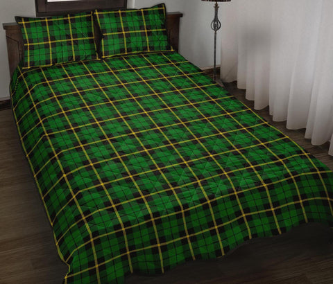 Wallace Hunting Green Tartan Quilt Bed Set