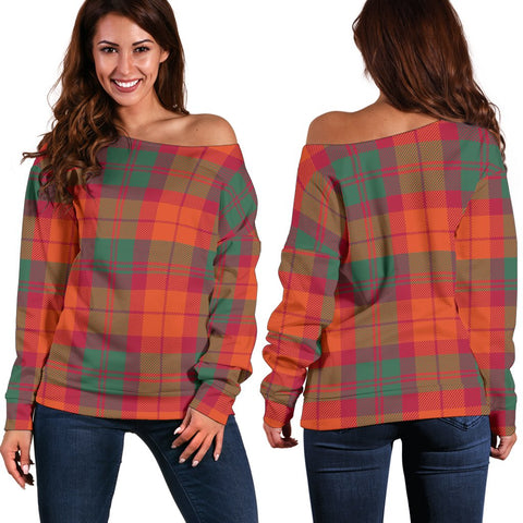Tartan Womens Off Shoulder Sweater - MacNab Ancient