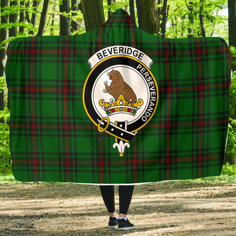 Beveridge Clans Tartan Hooded Blanket