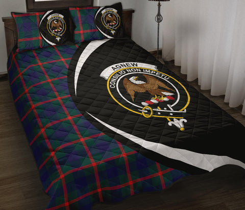 Agnew Modern Tartan Quilt Bed Set Circle