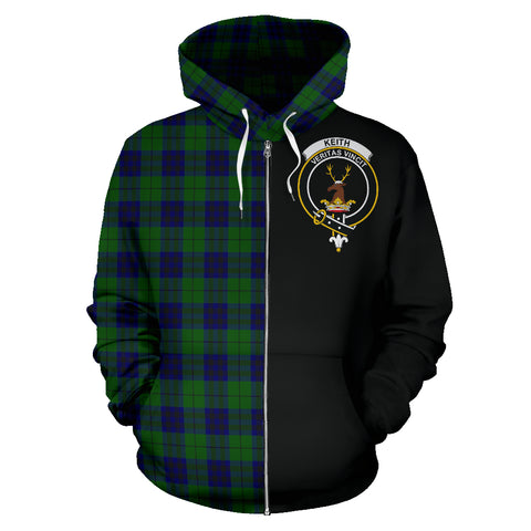 Image of Keith Modern Tartan Hoodie Half Of Me