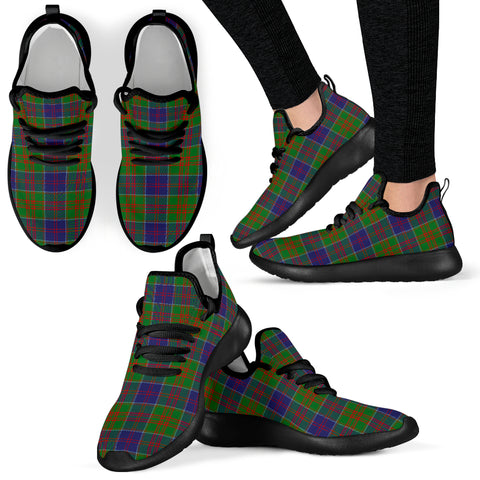Image of Tartan Mesh Knit Sneakers - Stewart of Appin Hunting Modern